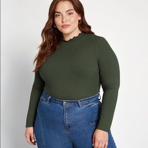 Modcloth Green Long Sleeved Top